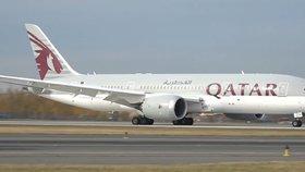 Boeing 787 Dreamliner společnosti Quatar Airlines.