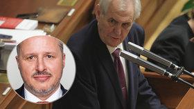 """Zeman zkritizoval """"nenažrance"""" ze Sněmovny, kteří chtějí přidat. Pozastavil se i nad poslancem Pávkem, který si o přidání vyloženě řekl."""