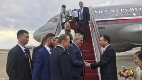 Prezident Miloš Zeman na návštěvě Číny (4.11.2018)