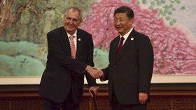 Český a čínský prezident během oficiální návštěvy (4.11.2018)