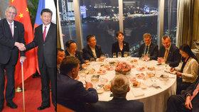 Zeman v Číně: S prezidentem Si Ťin-pchingem i při setkání s představenstvem CITIC