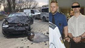 Soud zvýšil muži za tragickou nehodu v Olomouci trest na osm a půl roku.
