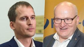 Jan Čižinský (vlevo) ve sněmovně pokračuje, i když už není lidovcem. Daniel Herman má (alespoň prozatím) smůlu.