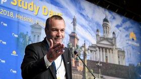 Volebním lídrem evropských lidovců bude pro květnové volby Manfred Weber, který byl zvolen na kongresu v Helsinkách (8.11.2018)
