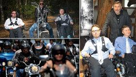 Motorkář Káďa pomáhá pacientům se svalovou dystrofií.