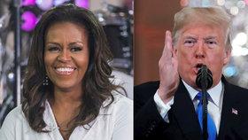 Donald Trump ohrozil před lety svým zpochybňováním místa narození Baracka Obamy rodinu tehdejšího prezidenta, což Trumpovi Michelle Obamová nikdy nezapomene.