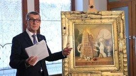 Do sbírek v Elysejském paláci se zařadil i dárek od Babiše. Obraz nechal Babiš pro Macrona namalovat při příležitosti oslav 100. výročí skončení první světové války.
