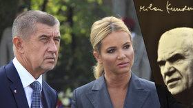 Andrej a Monika Babišovi se v Paříži potkali se spisovatelem Milanem Kunderou a jeho ženou. Český emigrant pozval premiéra s manželkou k sobě domů. Babiš ho naopak pozval do Prahy a chce mu vrátit zpět občanství, které Kunderovi vzali po emigraci komunisté