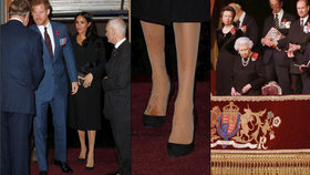 Členové britské královské rodiny slaví výročí konce války. Někteří zmokli od hlavy až k patě