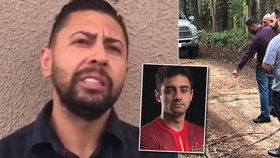 Vrah fotbalisty ukázal policii místo, kde pohodil tělo oběti