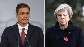 """Španělský premiér Sánchez nabídl radu premiérce Mayové ohledně brexitu: """"Kdybych byl vámi, uspořádal bych druhé referendum."""""""