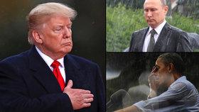 Trump se v Paříži vymlouval na déšť. Putin ani Obama takový problém nikdy neměli.