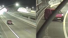 Řidič zastavil na dálnici D8 u krajnice. Nadýchal téměř 3 promile!