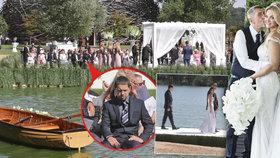 Babiš Junior byl přítomen i na svatbě svého otce v roce 2017 na Čapím hnízdě