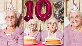 Britská dvojčata slaví 102 let.