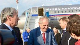Prezident Miloš Zeman dorazil na státní návštěvu Izraele (25. 11. 2018).