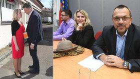 Místopředsedkyně ČSSD Jana Fialová patrně skončí v čele strany. Stejně jako Jiří Zimola (vlevo) a nejspíš i Jaroslav Foldyna (vpravo)