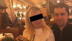 Andrej Babiš mladší se svou přítelkyní Jelizavetou