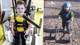 Malý Nicolas je bojovník! Nevzdává se a zdravotním problémům statečně čelí.