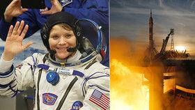 Američanka Anne McClainová je součástí tříčlenné posádky, která v ruské vesmírné lodi Sojuz doputovala na ISS (3.12.2018)