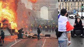 Do protestů ve Francii se zapojili i středoškoláci.