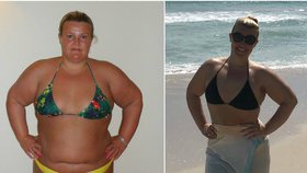 Odmítla striktní diety i pomoc trenéra. Přesto zhubla o 64 kilo a je na polovině původní váhy!