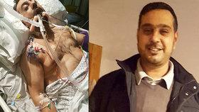 Otci čtyř dětí útočníci uřízli uši. Teď bojuje o život