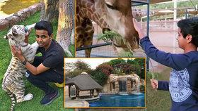 V domě u teen-miliardáře: Na zahradě má soukromou zoo