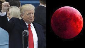 Příští krvavý Měsíc proběhne v den výročí inaugurace Donalda Trumpa. Náhoda?