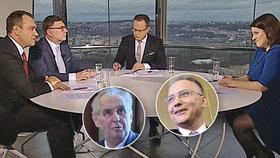 U Moravce se řešil spor Miloše Zemana s BIS. Stanjura (ODS) navrhl, aby byl šéf BIS Koudelka povýšen na generála, což ale Zeman odmítá