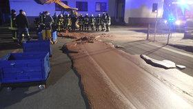 Čokoládová pohroma uzavřela v Německu silnici.