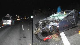 Řidič neměl platné oprávnění a jel v mrazu na letních gumách.