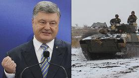 Ukrajinský prezident Petro Porošenko dnes oznámil, že nemá v plánu prodloužit válečný stav v zemi, ledaže by došlo k rozsáhlému útoku ze strany Ruska.