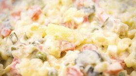 Bramborový salát je plný majonézy, která nám potrápí žlučník.