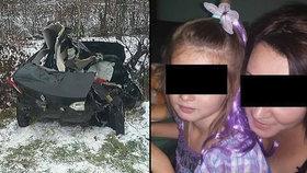 Při tragické nehodě zemřela matka s dcerou.