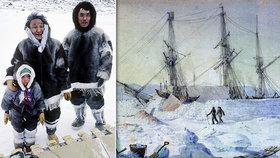Inuitům se nelíbí archeologický průzkum lodí HMS Terror a HMS Erebus. Prý probudil kletbu