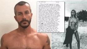 Chris Watts dostává do vězení psaníčka od fanoušků