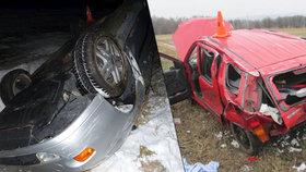 V Olomouckém kraji došlo v uplynulých dnech k několika vážným nehodám