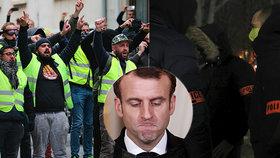 Prezident Macron ustoupil požadavkům žlutých vest i policie.