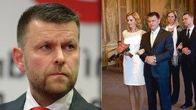 Petr Witowski, nový ředitel pražského dopravního podniku. A jeho svatba s moderátorkou ČT Světlanou Witowskou.
