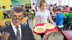 Školní obědy zdarma asi nedostanou všichni, řekl Andrej Babiš (ilustrační foto)
