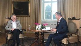 Prezident Miloš Zeman je u Jaromíra Soukupa pravidelným hostem.