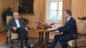 Prezident Miloš Zeman je u Jaromíra Soukupa pravidelným hostem
