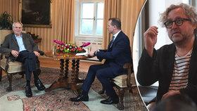 """Miloš Zeman se opřel do """"lepšolidí"""", režisér Hřebejk odmítá rozdělování společnosti a """"ubohé nálepky""""."""