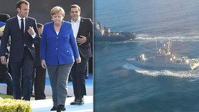 Německá kancléřka Angela Merkelová a francouzský prezident Emmanuel Macron v pátek vyzvali Rusko, ať propustí ukrajinské námořníky, které zajalo minulý měsíc i s jejich loděmi v Kerčském průlivu mezi Azovským a Černým mořem.