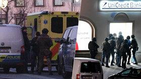 Útvar rychlého nasazení vnikl do banky a zadržel pachatele, rukojmí jsou v pořádku.