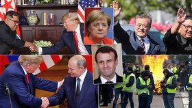 Rok smíření. Trump si podal ruku s Kimem i Putinem. Macron se potýká s protivládními protesty, Merkelová ohlásila odchod z čela CDU.