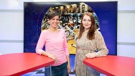 Propagátorka zdravého životního stylu Eva Cikrytová byla hostem pořadu Epicentrum. Vpravo moderátorka Klára Brunclíková.