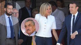 Schwarzenberg a další čeští politici komentují potíže Macrona kvůli žlutým vestám i kauze Benalla (vlevo někdejší osobní strážce Alexandre Benalla).