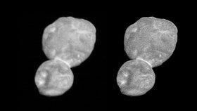NASA zveřejnila fotografii planetky Ultima Thule (2. 1. 2019)